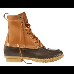 EUC L.L.Bean Boots in Tan/Brown Leather- Sz 8